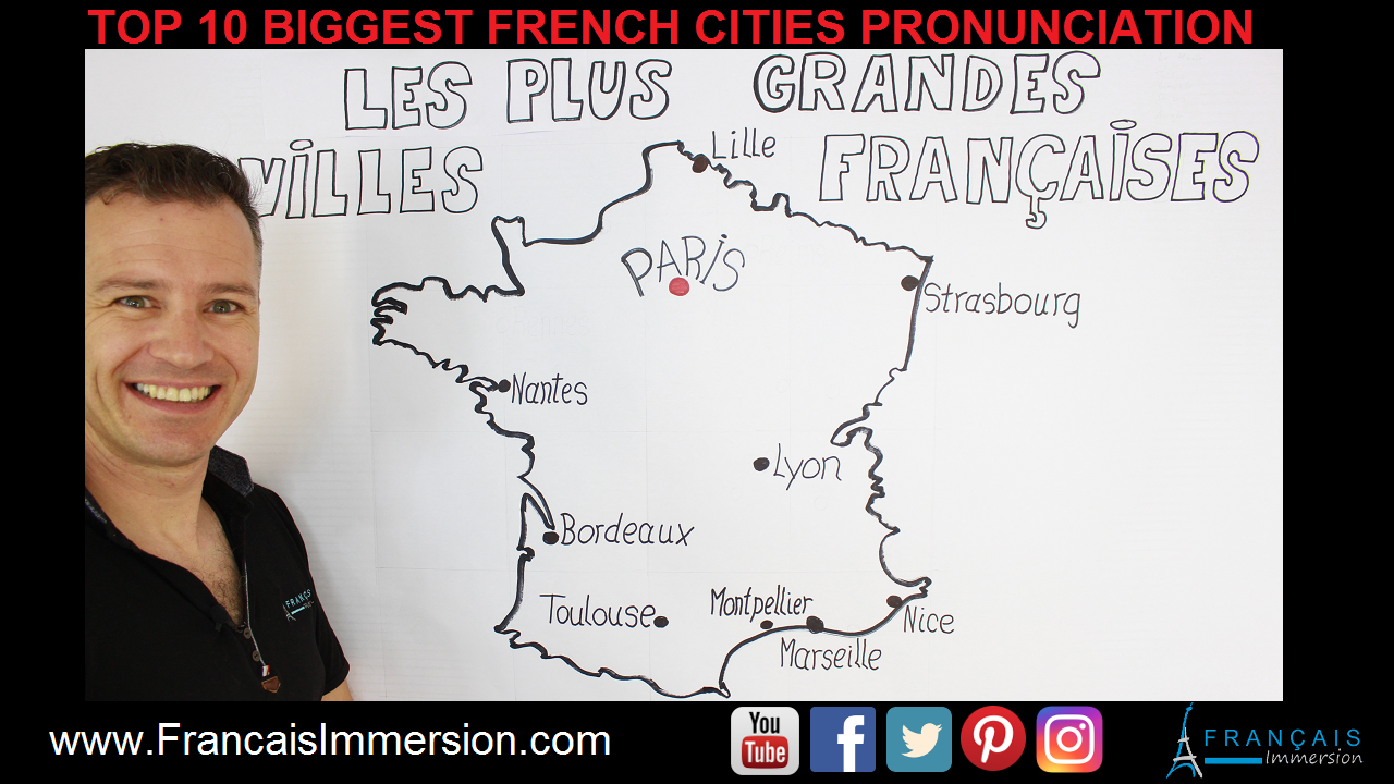 10 French Cities Pronunciation Support Guide - Francais Immersion