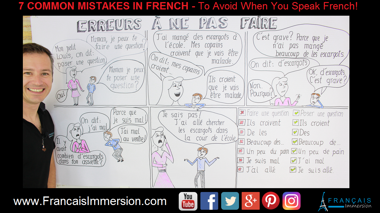 7 Common Mistakes in French Support Guide - Francais Immersion