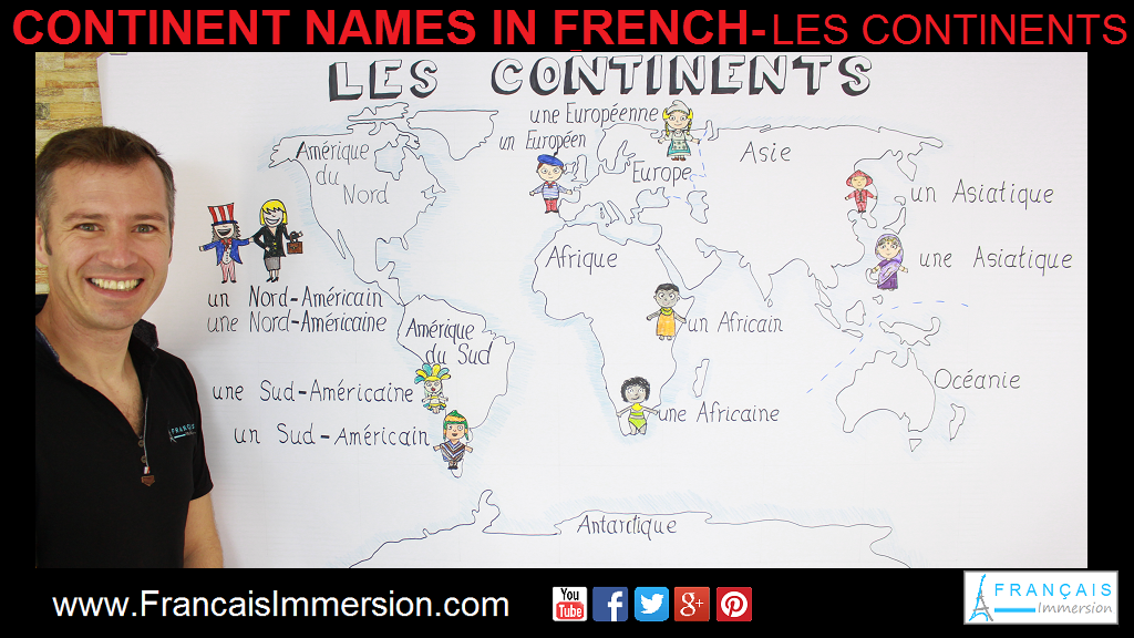 Continent Names French Support Guide - Français Immersion