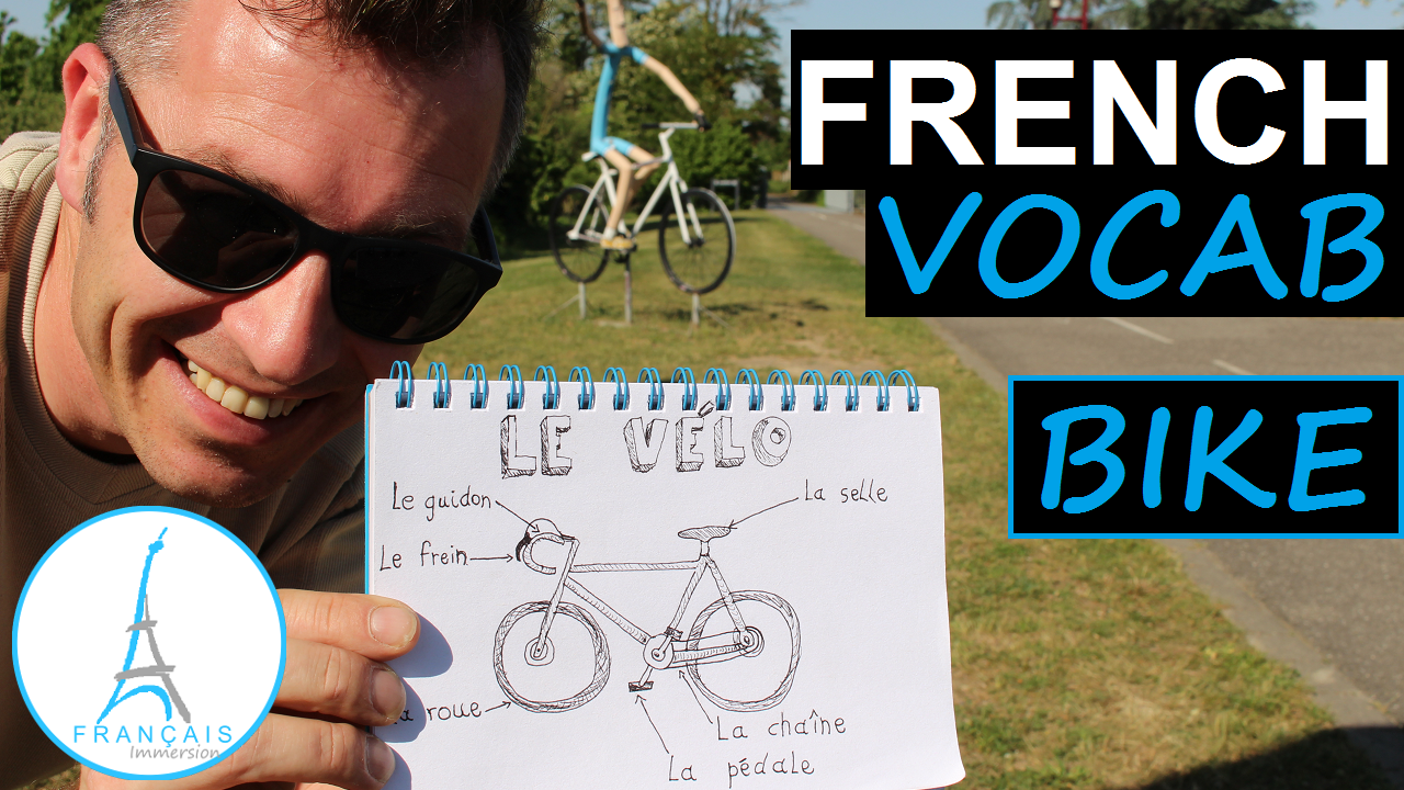 French Bicycle Bike Velo Vocab - Francais Immersion