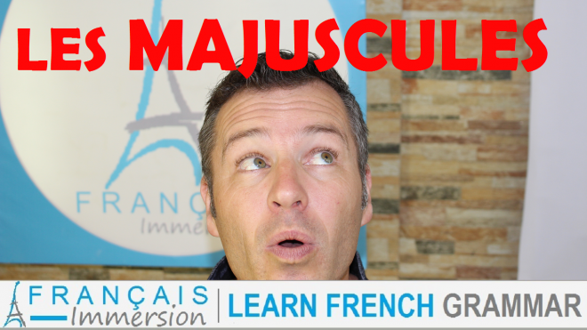 French Capitalization Majuscules - Francais Immersion