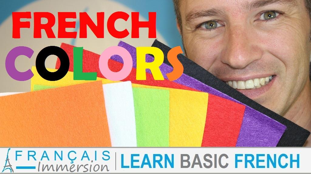 French Colors Colours Couleurs - Français Immersion