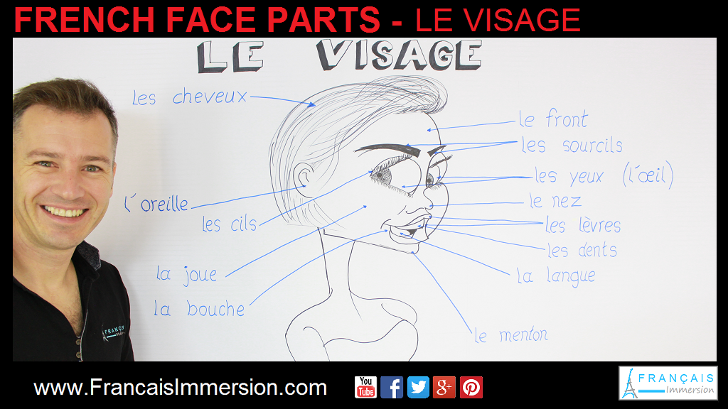 French Face Parts Support Guide - Français Immersion