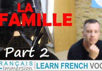 French Family Members Vocabulary – La Famille en Français Part 2