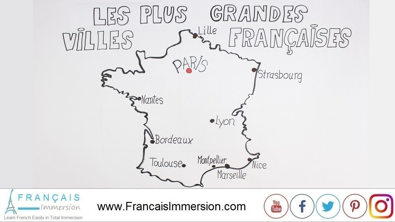 French Lesson - 10 French Cities Pronunciation - Français Immersion