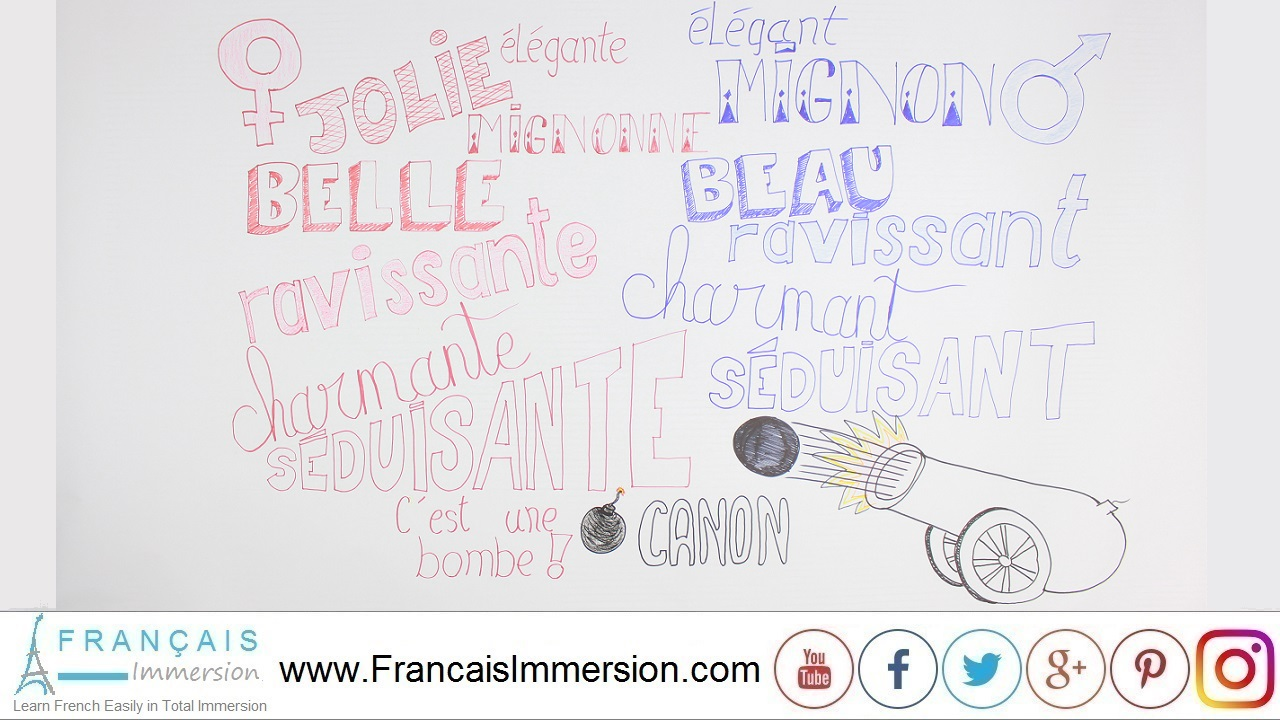 French Lesson - Beautiful in French Beau - Français Immersion