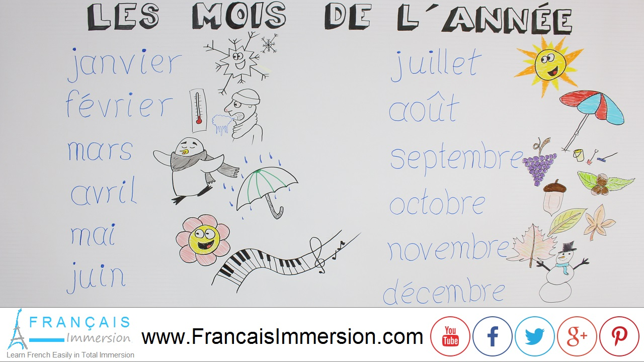 French Lesson - Months of the Year - Français Immersion