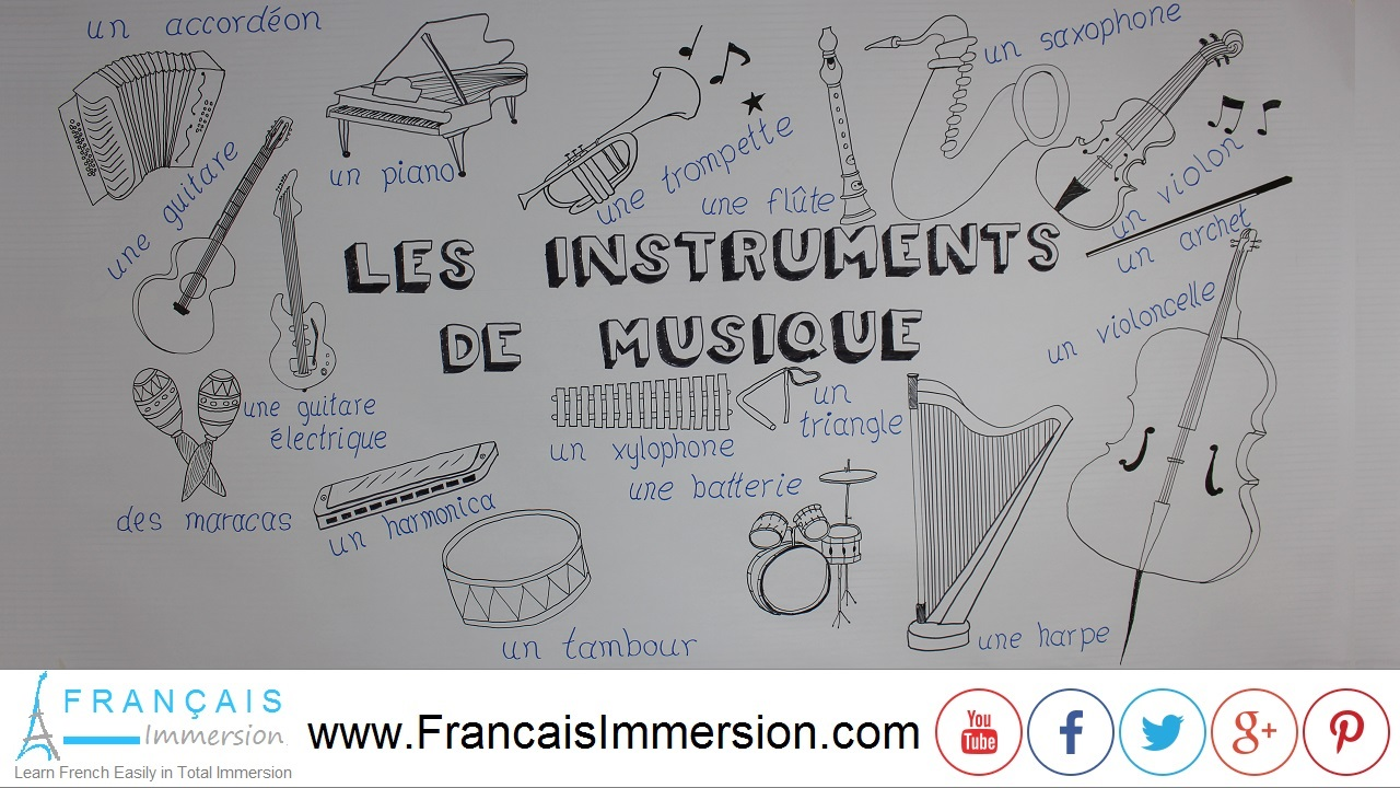 French Lesson - Musical Instruments - Français Immersion