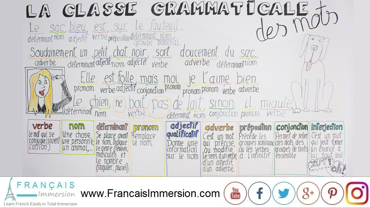 French Lesson - Nature-French-Words-Exercises-Grammar - Français Immersion