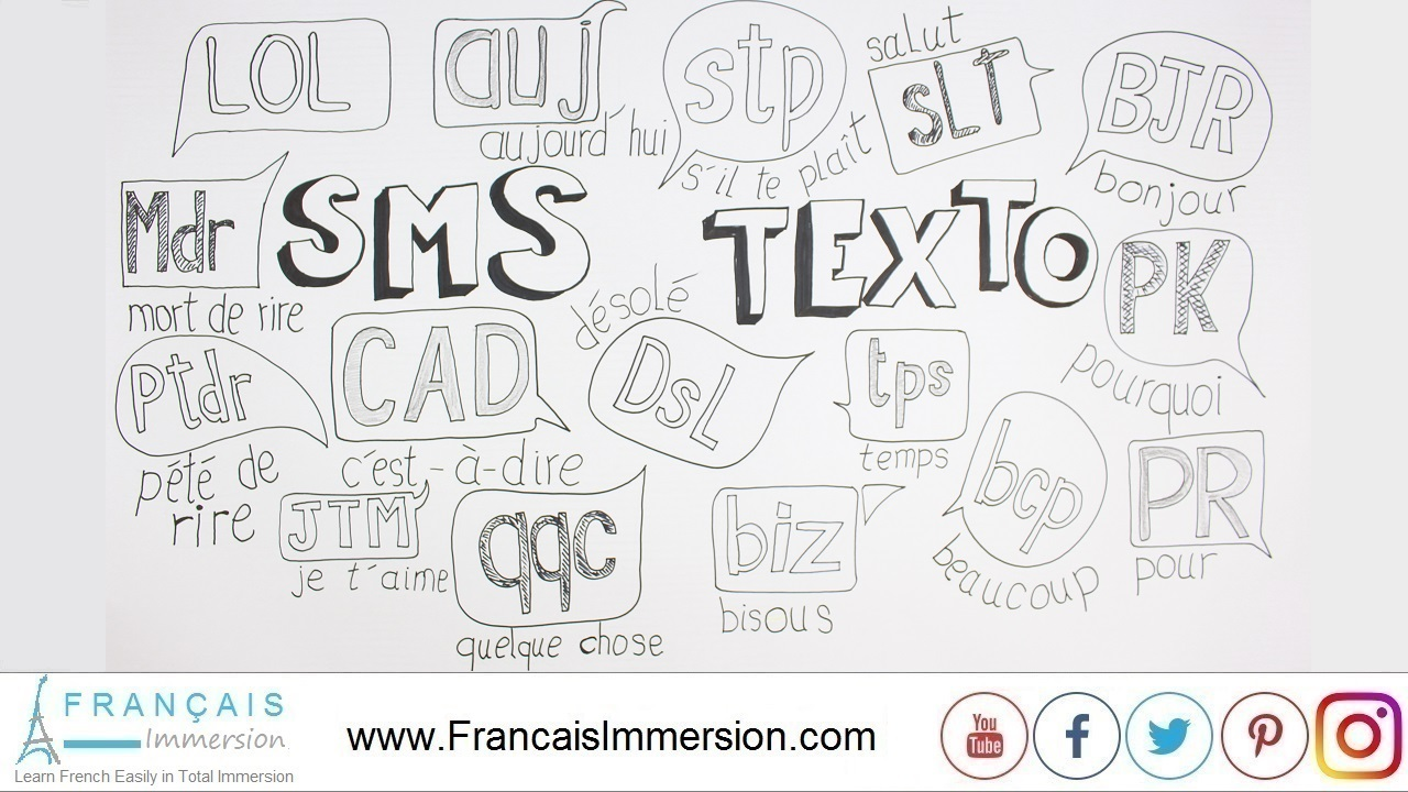 French Lesson - Sms Language French Texting - Francais Immersion