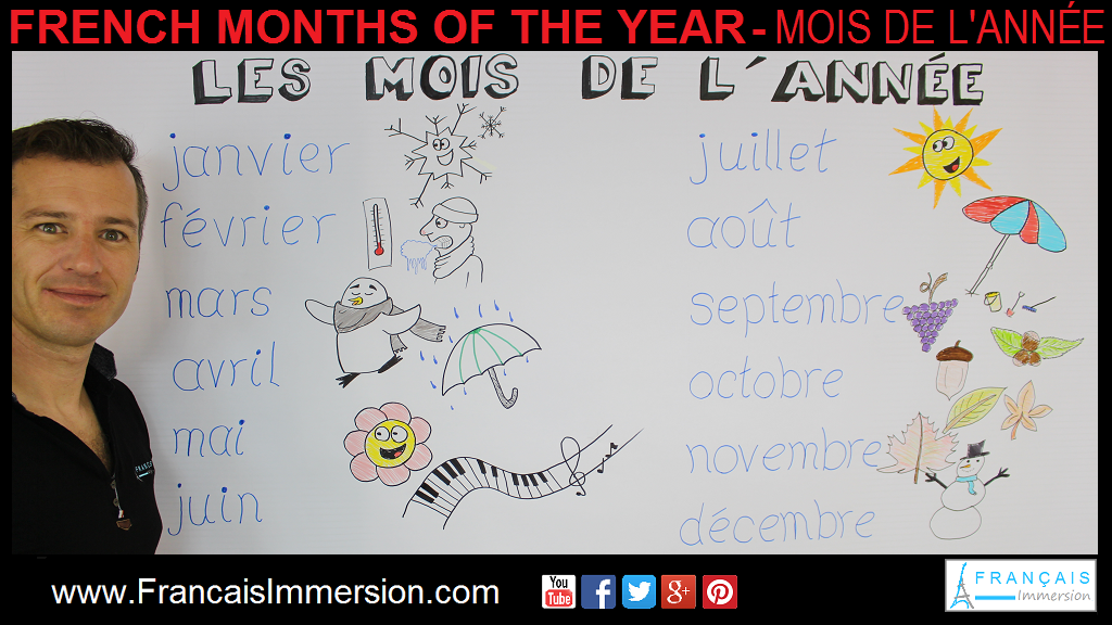 French Months of the Year Support Guide - Français Immersion