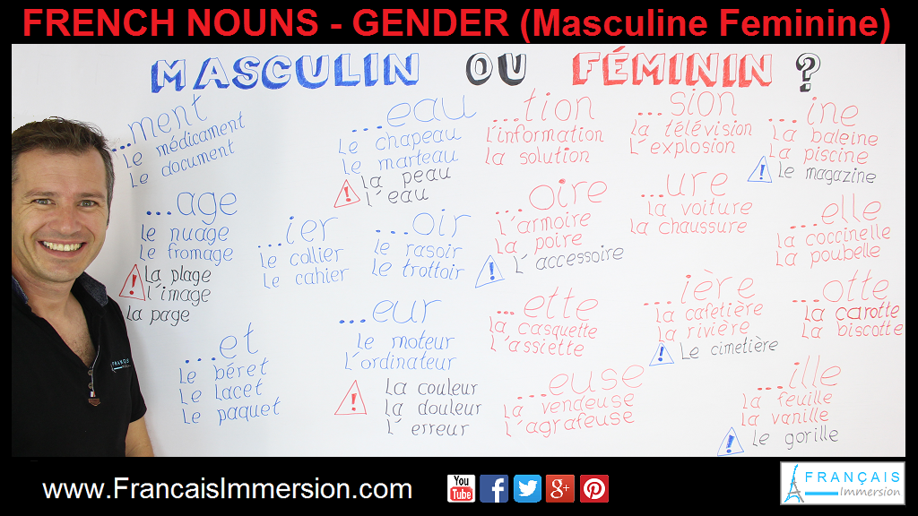 French Nouns Gender Support Guide - Français Immersion