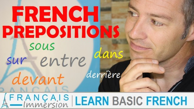 French Prepositions - Francais Immersion