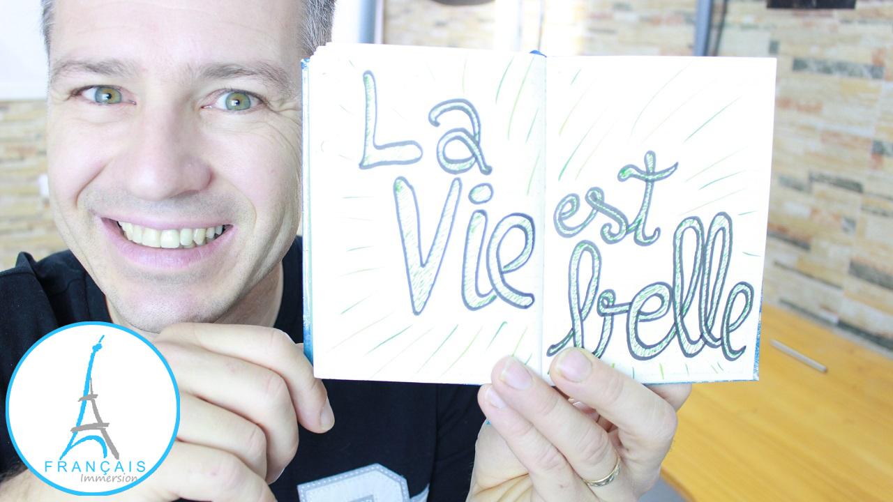 French Quotes La vie est belle - Francais Immersion