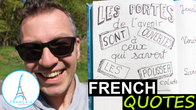 French Quotes Portes Avenir Coluche - Francais Immersion