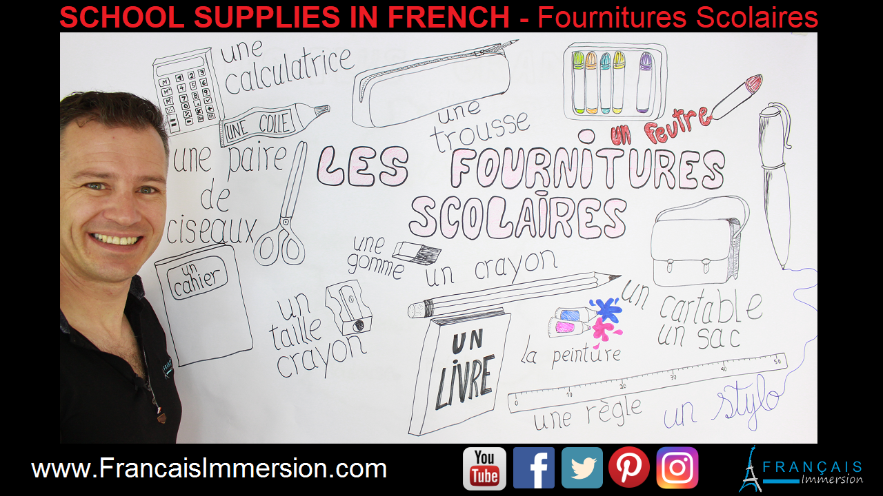 French School Supplies Support Guide - Francais Immersion