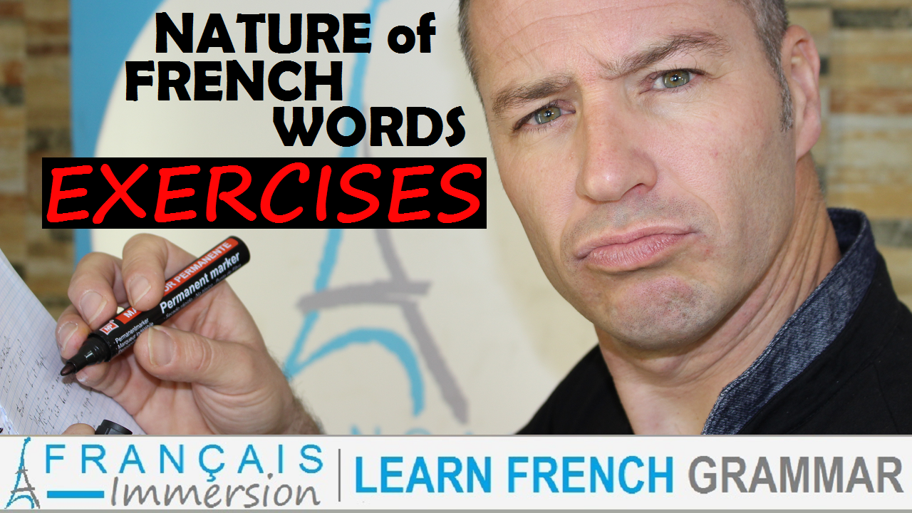 Nature French Words Exercises Grammar - Francais Immersion