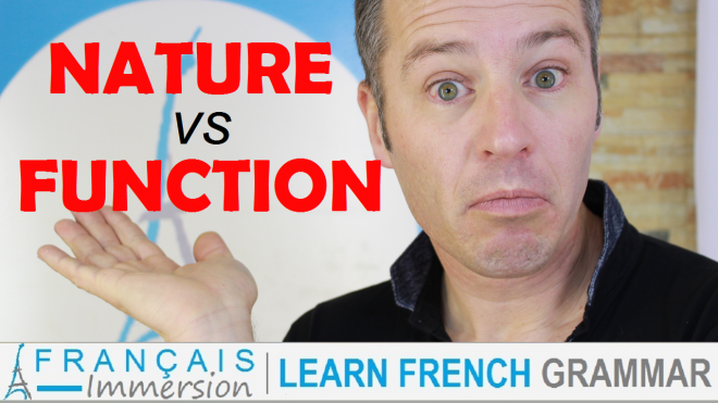 Nature Function French Words - Francais Immersion