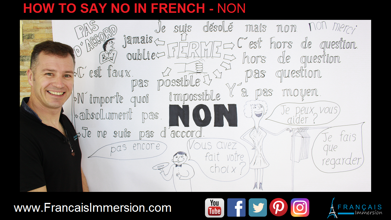No in French Non Support Guide - Francais Immersion