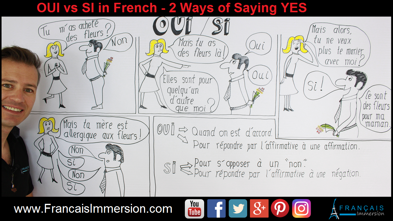 OUI vs SI French YES Support Guide - Français Immersion