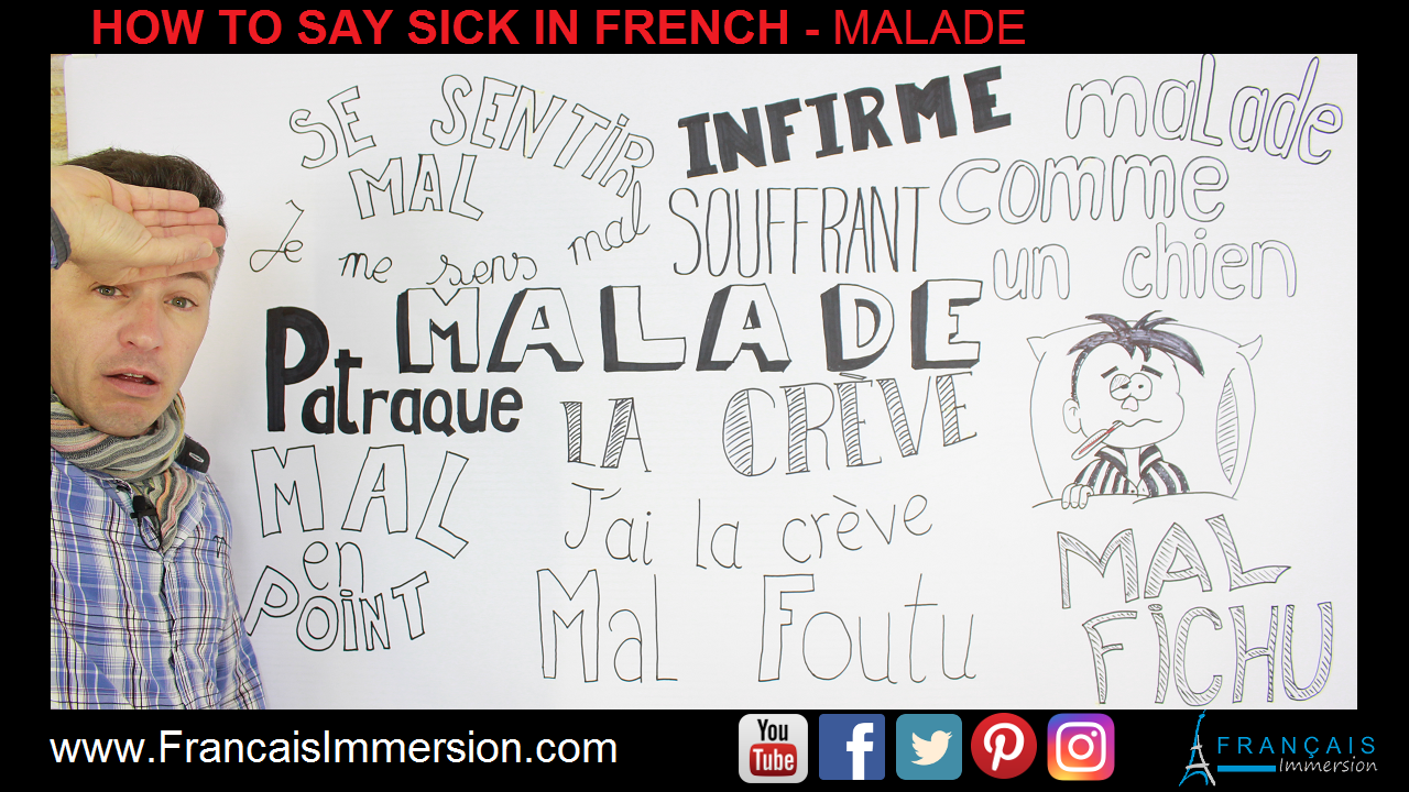 Sick in French Malade Support Guide - Francais Immersion