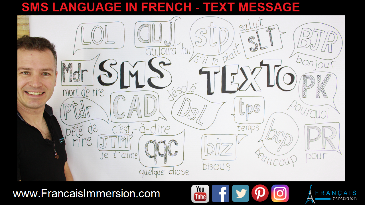 Sms Language French Texting Support Guide - Francais Immersion