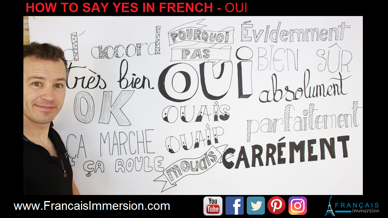 Yes in French Oui Support Guide - Francais Immersion