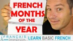 French Months of the Year - Francais Immersion